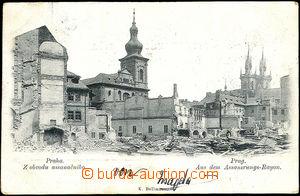 45093 - 1898 Praha, z obvodu assanačního; DA, prošlá, odřené růžky