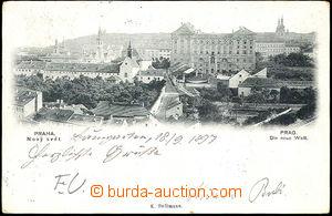 45097 - 1897 Praha, Nový svět, celkový pohled; DA, prošlá, odřené rů
