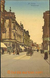45098 - 1914 Moravská Ostrava - Hlavní ulice, obchody, povoz; prošlá