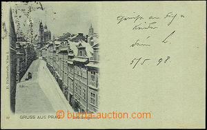45099 - 1898 Gruss aus Prag, Brückengasse, zelený odstín; DA, prošlá