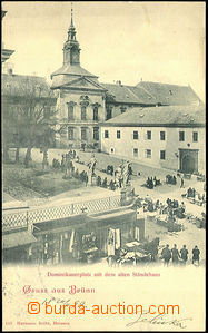 45103 - 1899 Brno, Dominican square and New town-hall; long address,