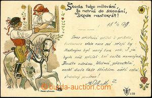 45151 - 1899 Josef Šváb č. 59, škoda toho milování, že netrvá do sko