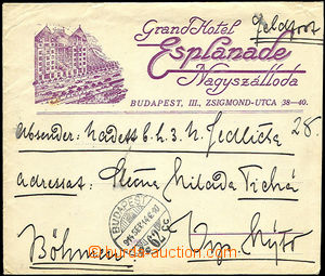 45174 - 1914 HUNGARY  envelope sent as Feldpost(!) with decorative a