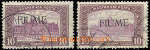 45198 - 1918 Mi.25, 2 pcs of unattested, 1x owner's mark, without gu