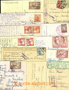 45223 - 1919-21 comp. 11 pcs of Ppc mainly addressed to Czechoslovak
