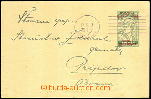 45226 - 1919 overprint PC Mi.P1 10/8h MC Sarajevo 17.3.19, good cond