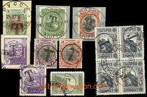 45232 - 1901-18 comp. 12 pcs of stamp. postage-due provisional, with