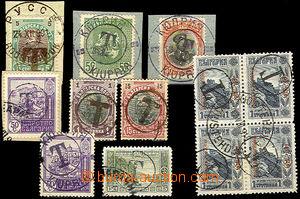 45232 - 1901-18 sestava 12ks zn. doplatních provizorií, s přetisk