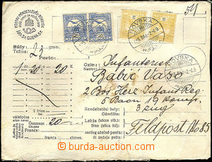 45244 - 1915 money letter sent on/for FP No.85, envelope in/at Hunga