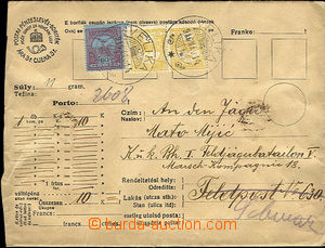 45246 - 1916 money letter sent on/for FP č.630, redirected, envelope