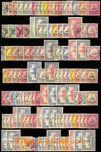 45308 - 1900-20 sestava 129ks zn. z různých kolonií na výmětov�
