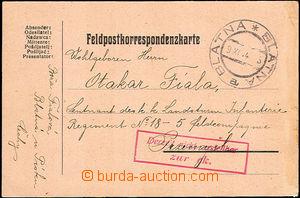 45481 - 1914 FP card addressed to to obléhané Přemyšle, CDS Blat