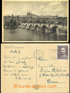 45488 - 1948 2 postcard with 1,50Kčs, MC PRAGUE - RAILWAY POST OFF.