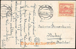 45495 - 1918 postcard with 10h (Pof.5), MC Prague 1/ 23.XII.18, earl