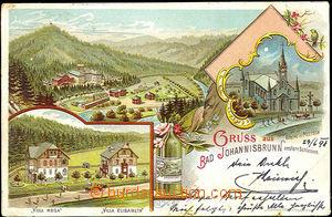 45511 - 1898 Jánské Koupele - Gruss aus Johannisbrunn, lithography,