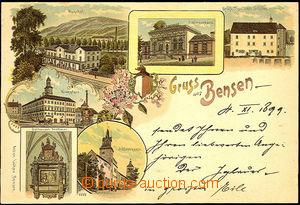 45518 - 1899 Benešov nad Ploučnicí (Bensen) - 6-okénková litografie,