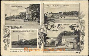 45522 - 1923 Tavíkovice - factory for droždí, škrob and alcohol, cas