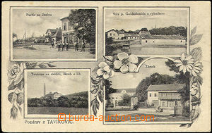 45522 - 1923 Tavíkovice - továrna na droždí, škrob a líh, zám
