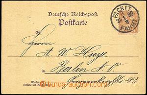 45530 - 1899 obchodní dopisnice se známkou Berliner Packet Fahrt a