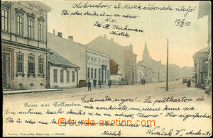 45537 - 1910 Místek - Colloredow (Koloredov), view of street with p