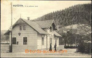 45538 - 1909? Potštýn, c.k.poštovní úřad, čb, použité, zná