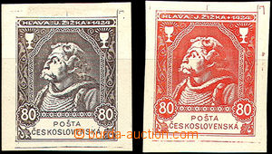 45549 - 1920? 2x trial print in/at dark brown and red color, John Ž