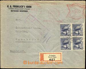 45557 - 1945 firemní R dopis vyfr. otiskem OVS Bohumil Schnabel Nov