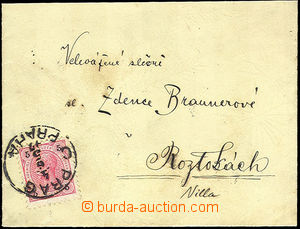 45558 - 1897 BRAUNEROVÁ Zdena letter envelope sent to painter,  as