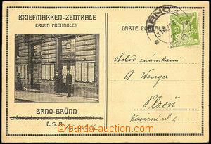 45565 - 1922 Brno  lístek s přítiskem a obrázkem filatelistické