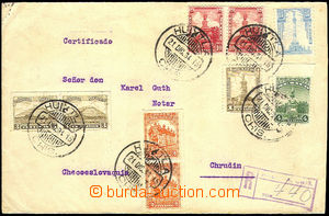 45583 - 1934 Reg letter addressed to to Czechoslovakia, franked by m