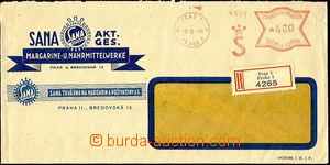 45584 - 1944 R dopis s OVS S Praha 1/ 8.6.44 a hodnotou 4,60K na ok�