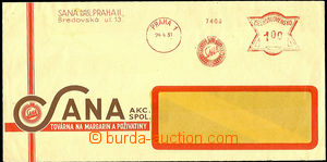 45585 - 1931 letter with meter stmp SANA Prague 1/ 24.4.31 and value