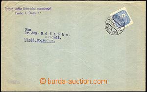 45600 - 1942 tiskopis vyfr. novinovou zn. 5h, Pof.NV11 s DR Praha 29