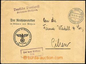 45604 - 1939 dopis úřadu Reichsprotektora zaslaný přes služebn�