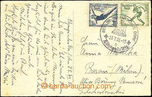 45632 - 1936 NĚMECKO  pohlednice zaslaná do ČSR vyfr. olympijský
