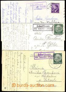 45636 - 1940-42 3 postcard with postal agency pmk SCHWILLBOGEN über
