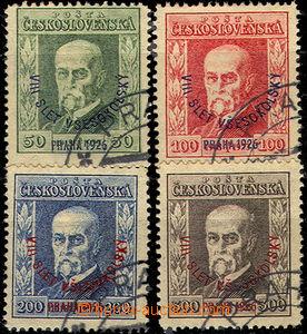45680 - 1926 Pof.183-186 T. G. Masaryk Festival, postmark in corners