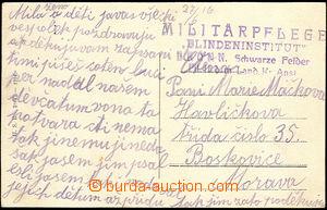 45705 - 1916 postcard (Lelekovice) addressed to to Boskovice, straig