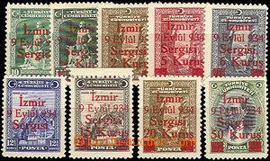 45712 - 1934 Mi.971-79 Fair in Smirně, complete set of, mint never