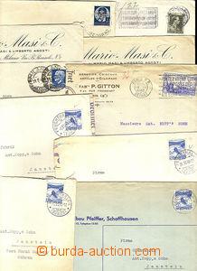 45715 - 1940 sestava 10 ks dopisů ze Švýcarska (4ks), Francie (2k