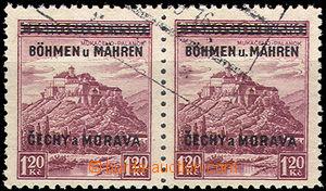 45739 - 1939 Pof.11 Mukačevo, vodorovná 2-páska s DV přetisku (c