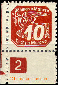 45741 - 1939 Pof.NV5 Novinové I., levý rohový kus s DČ 2, ochran