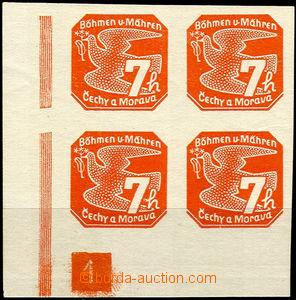 45751 - 1939 Pof.NV3 Novinové I., levý dolní rohový 4-blok s DČ