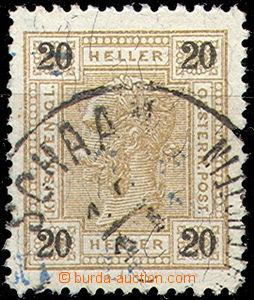 45773 - 1899? LIECHENSTEIN  rakouská známka 20h (Mi.75) s DR Schaan