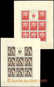 45788 - 1944 sheet issue Mi.162-165 Work service, č.162C, 163A, 164