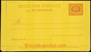 45803 - 1890 letter-card Mi.K1/I.,  slightly oblique margins, light