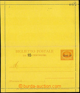 45805 - 1905 letter-card Mi.K2 overprint values 15/20Cmi, on reverse