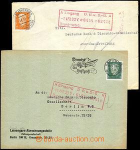 45809 - 1933 NĚMECKO  2ks identifikačních dopisů vyfr. zn. s per