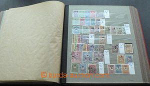 45815 - 1892-1960 partially sorted comp. of stamps in 12-sheets stoc