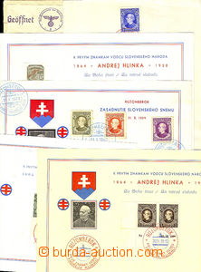 46017 - 1939 SLOVAKIA  comp. 5 pcs of commemorative sheets A5, 3x wi